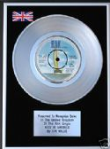 "KIM WILDE - 7"" Platinum Disc - KIDS IN AMERICA"